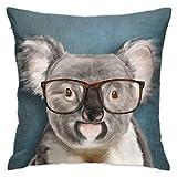 Funda de almohada con gafas de colores y retrato suave, fundas decorativas, fundas de almohada cuadrada, moderna decoración del hogar, coche, 40,6 x 40,6 cm