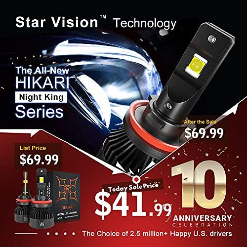 HIKARI TOP XHP50.2 LED, H7 LED Bulbs Conversion Kit, 10000lm, High Lumens 6000K Cool White, IP68 Waterproof,Halogen Bulbs...