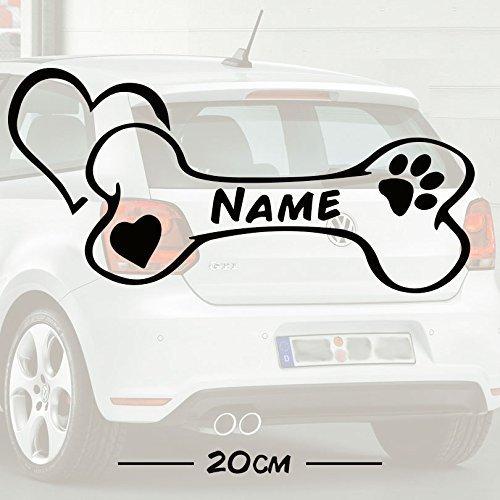 bester der welt # 1 Dog Bone Love Freitext    Name    Autoaufkleber    Hund    Haustier    Text der Hoffnung 2021