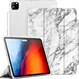 INFILAND Funda Case para iPad Pro 11', iPad Pro 2020/2018 Cover Soporte,[Auto-Reposo/Activación Cubierta] [Espalda translúcida Mate] [Carcasa Ligera] [Ultra Delgada Estuche],Mármol