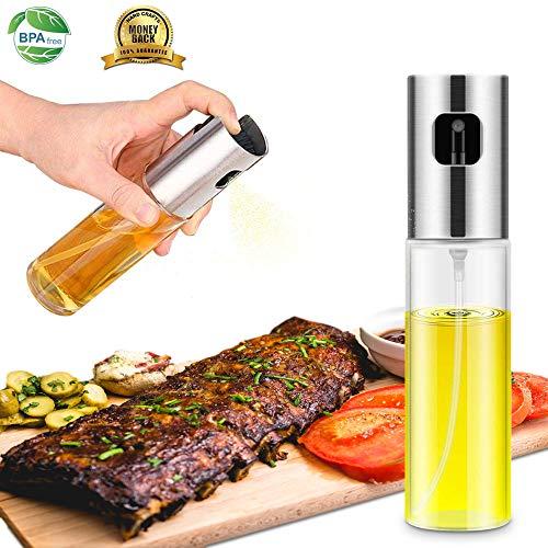 Olive Oil Sprayer Mister,Oil Sprayer for Cooking,Versatile Glass Spray Olive Oil Bottle Vinegar Bottle Glass Bottle for Cooking,Baking,Roasting,Grilling