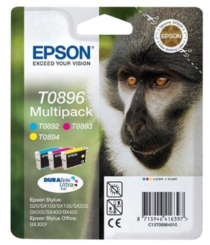 Epson Original T0896 tinta cian, Magenta, amarillo