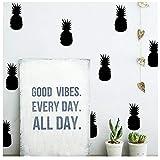 Wociaosmd 3D Pineapple Room Decoration Wall Stickers Fridge Home Decor Kids Room Mural Art Sticker (Black)