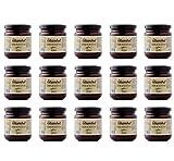 OLIAMBEL - Paté de Aceitunas Negras procedentes de la Sierra del Moncayo (Aragón) - Crema de Olivas Elaborada Artesanalmente Sin Aditivos - Caja de 15 Botes x 200gr