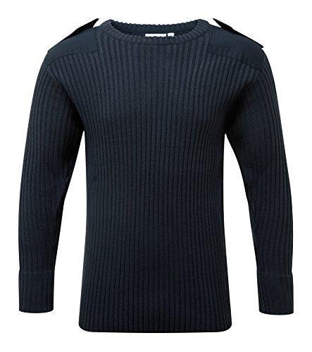 Castle Clothing - Maglione girocollo, blu, 120
