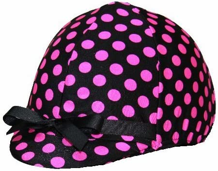 Equestrian Riding Helmet Cover - Hot Dots and Polka OFFicial site Max 53% OFF Pink Black