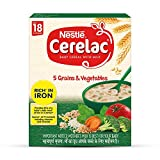 5 GRAINS AND VEGETABLES BABY CEREAL: Rich in Iron baby cereal for babies from 18 to 24 months ESSENTIAL NUTRIENTS FOR GROWTH: A source of 19 important nutrients including vitamins and minerals RICH IN IRON: Provides 83% of a baby's daily need of iron...