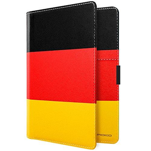 MoKo Carteras/Funda de Pasaporte - Passport Holder/Case Cover Multipropósito para 5.5 Pulgadas, Bandera Alemana