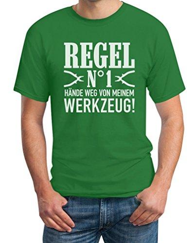 Männer Geschenk - Regel Hände Weg von Meinem Werkzeug! T-Shirt L Grün