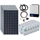 Sistema completo de energía solar fuera de la red de 2,4 kW 24 V...