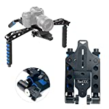 YaeCCC Aluminium Alloy Folding Rig Movie Kit Film Making System Shoulder Mount Support Rig Stabilizer Compatible for Canon Nikon Sony Fuji Olympus Digital SLR Cameras and Camcorders