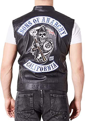 Son of Anarchy Highway - Chaqueta de piel sinttica con capucha, color negro
