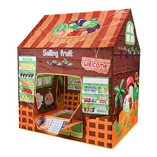 JIACUO Tienda para niños con temática de frutas fácil instalación, tienda de campaña de juegos para niños casa de juguete interior