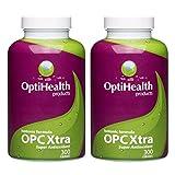 OptiHealth OPCXtra Isotonic OPC - Super Antioxidant Supplement - Grape Seed, Green Tea, Pine Bark, Citrus Bioflavonoids with Vitamin C, Vitamin E, Potassium. Gluten Free & Vegan. Pack of 2.