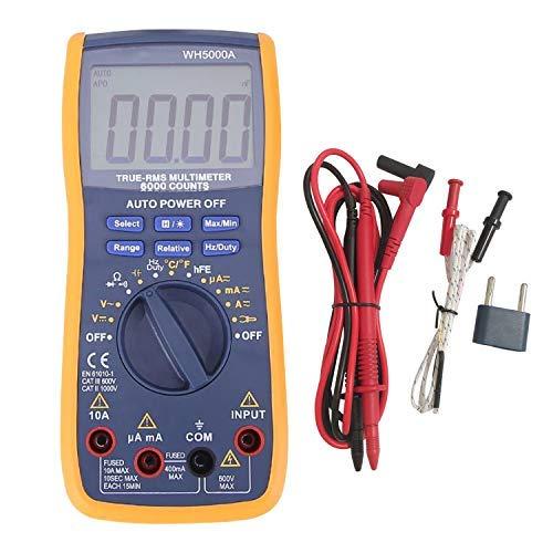 Digital Multimeter,YEESON Advanced Multimeter mit 6000 Counts,True RMS, messen von Spannung, Strom, Widerstand, Durchgang, Frequenz, Tests Dioden, Transistoren, Temperatur, Rot (Digital Multimeter)