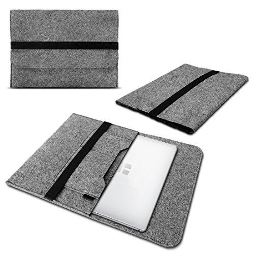 Schutzhülle kompatibel für Odys mybook 14 Filz Tasche Sleeve Hülle Laptop Cover Notebook Case 14 Zoll, Farbe:Grau