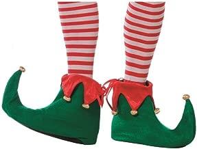 Red /& green Pères Noëls ont rendez-vous helper Elf Noël Déguisements couvre chaussure