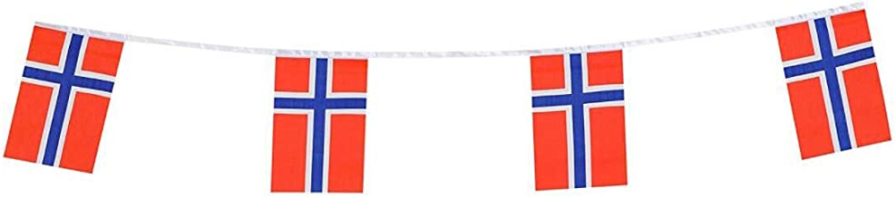 Norway Flags Norwegian Nordmann Small String Flag Banner Mini National Country World Flags Pennant Banners For Party Events Classroom Garden Olympics Festival Grand Opening Bar Decorations