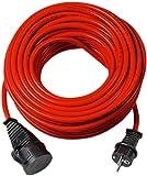 Nedis Brennenstuhl Red Extensión Cable, 10M, Rojo
