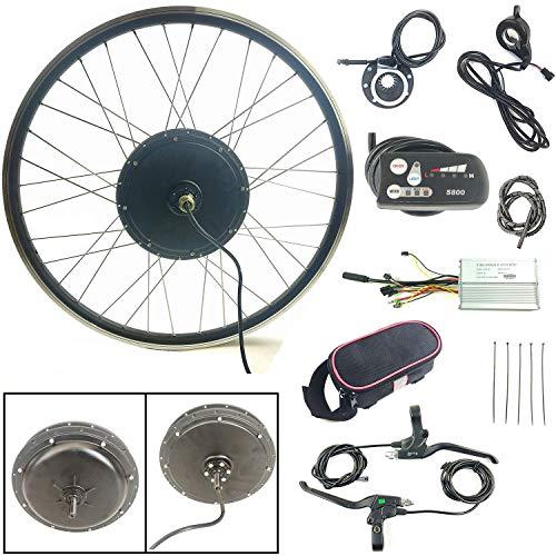 SCHUCK Kit Telaio Ruota Anteriore Bicicletta elettrica Bici elettrica da 20'36V 500W 1.95' -2.5'con Display S800