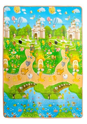 MALATEC Spielteppich Isoliert Kindermatte Tragbar Bunt Tiere Fische 180x150x1cm 7872, Muster:Tiere