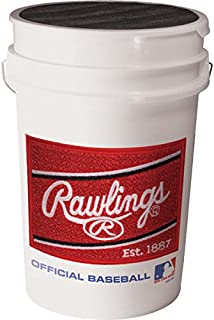Rawlings Mixed Variety Pack of Baseballs with Bucket,  24 Count (Ages 14 and Under)