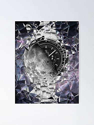 Situen Omega Speedmaster Professional Moonwatch Meets The Moon Poster – Per decorare ufficio, dormitorio, classe, ginnastica e Lgbt Bestie, vacanze, grande arte da parete ispiratrice