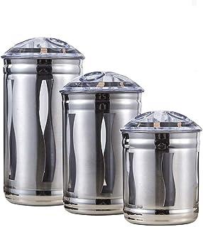 Bocaux Bocal pour la Mise en Conserve Ensemble de 3 Pots de Cuisine en Acier Inoxydable avec couvercles hermétiques et fen...
