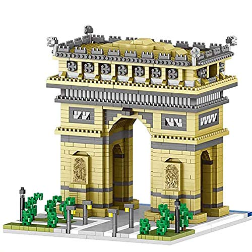Ensemble de Construction, Micro Diamond Block Nano-Brick Model Building Brick Toy - World Famous Architecture France Paris Arc De Triomphe Mini Blocks DIY Toys