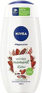 NIVEA Winter Moment Kakao verzorgende douchegel (250 ml), winterse douchegel met de warme geur van cacao, crèmedouche met ...