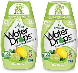 Sweetleaf Stevia Natural Water Drops Lemon Lime, 1.62 Ounce (Pack of 2)
