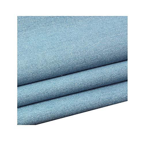 Katoen Gewassen Denim Stof Dikke Kleding Shirt Broek Schort DIY Tops Stof 150cm breed(150cm x 50cm) (Color : In blue)