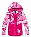 M2C Girls Fleece Lined Waterproof Jacket Color Block Windbreaker Rose 7/8