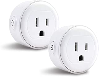 Greendot Wifi Smart Plug Mini, Smart Home Power Control Socket, Remote Control Your Household Equipment from Everywhere, No Hub Required, Compatible with Alexa and other assistant (2 Packs) (2)