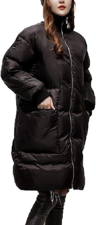 Keaac Women's Padded Mid Length Fur Collar Warm Loose Fit Bread Outwears