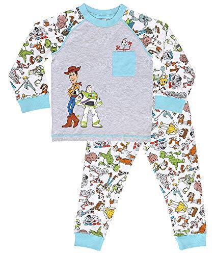 Disney Pigiama A Maniche Lunghe per Ragazzi di Toy Story 4 con Woody, Buzz Lightyear E Forky | Pigiami Due Pezzi 100% Cotone | Regalo per Bambini dai