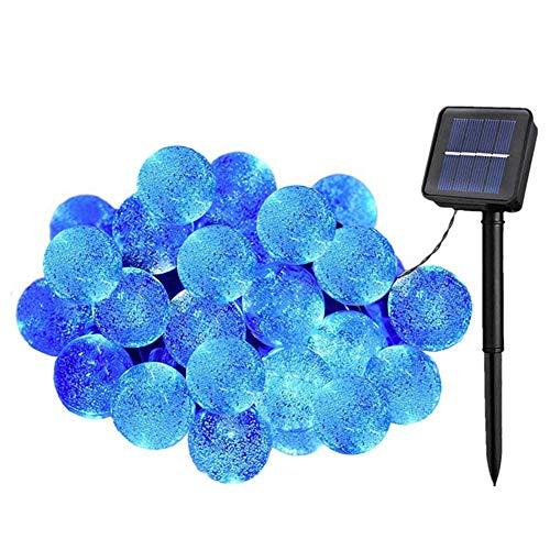 Preisvergleich Produktbild KEEDA 30er LED Solar Lichterkette,  Garten Globe Außen 6 Meter,  Solar Beleuchtung Kugel,  Weihnachtsbaum Lichterkette,  Dekorative Lichter, Weihnachtsbeleuchtung, Wassertropfen(Blau)
