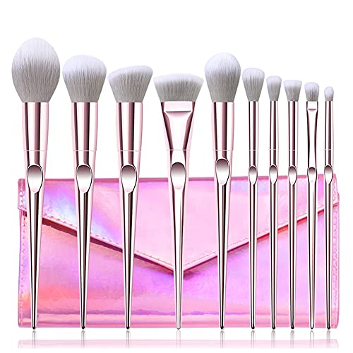 ROTAKUMA 10 Stücke Augen Make-up Pinsel Set Auges Gesichtsmake-up Kosmetische Bürstenwerkzeuge (Handle Color : 10pcs with Bag)