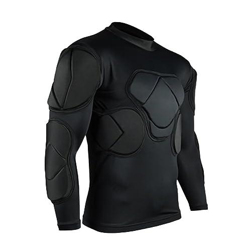 Jellybro Men s Padded Football Protective Gear Set Training Suit for Soccer  Basketball Paintball Rib Protector bd62a9e912