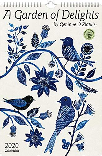 Geninne Zlatkis 2020 Poster Art Wall Calendar: A Garden of Delights (10.75' x 16')