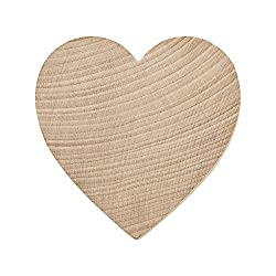 Wood heart for craft projects