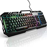 Teclados Gaming, TedGem Teclado Gaming, Teclado USB, Teclado Gaming PS4 LED Retroiluminado...
