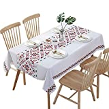 Hunterace PVC Vinyl Oilcloth Tablecloth Rectangular Table Cover For Kitchen Wipe Clean Plastic(135 * 180CM)-1