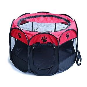 Easylifer Parc pour chiot - Niche pour animal - Enclos pour chien/chiot/chat - Tente étanche