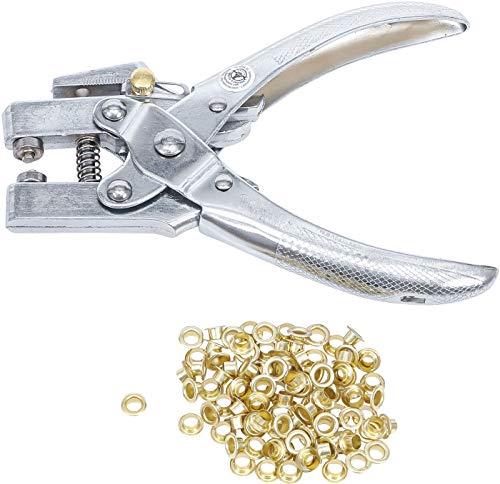 Kraftmann 570 | Alicate perforador para ojales con 100 ojales redondos | 4,5 mm | 180 mm