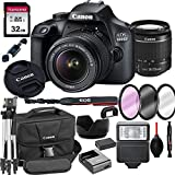 Canon 4000D EOS DSLR Camera with 18-55mm f/3.5-5.6 Zoom Lens + 32GB Card, Tripod,...
