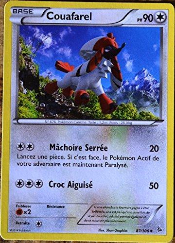 carte Pokémon 87/106 Couafarel 90 PV Série Xy Étincelles NEUF FR
