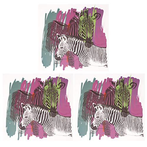Artibetter Fer sur Les Correctifs Zèbre Motif Applique Autocollants Transfert à Chaud Bricolage Vestes Tissu T-Shirt Accessoires 3 Pcs