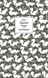 Squirrel Notebook - Ruled Pages - 5x8 - Premium: (Autumn Edition) Fun notebook 96 ruled/lined pages (5x8 inches / 12.7x20....