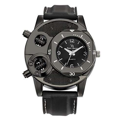 Reloj de cuarzo de Rawdah, con correa de silicona para
